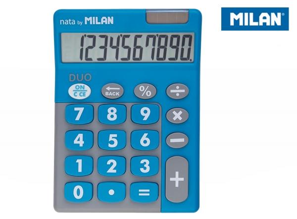 Kalkulator z dużymi klawiszami Milan Duo - Niebieski (150610TDBBL)