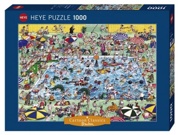 Puzzle 1000 elementów Zabawa na basenie (29904)