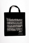 Torba czarna z motywem nut Chopina ( krótkie ucho)