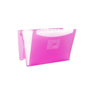 Teczka z przegródkami Elba Urban kolor: przejrzysty/różowy (400104380)