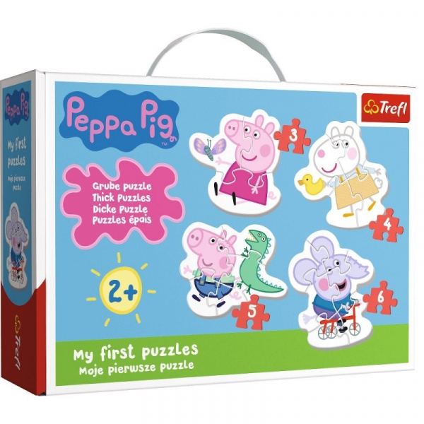 Puzzle Baby Classic: Urocza Świnka Peppa (36086) (Zgnieciony kartonik)