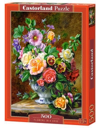 Puzzle Flowers in a Vase 500 (B-52868)