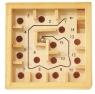 Mini-Games Labirynth drewiana gra planszowa z metalową kulką