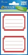 Naklejki na zeszyt czerwone (59686)