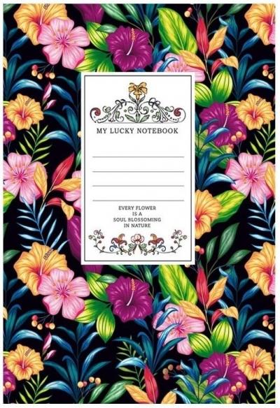 Notatnik ozdobny 145x197/80K kratka TW Kwiaty 1