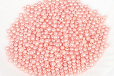 Koraliki /perełki/ z dziurką  śr.8mm. j.różowe