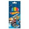 Kredki ołówkowe 12 kolorów Hot Wheels