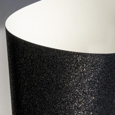 Papier ozdobny (wizytówkowy) Galeria Papieru brokatowy A4 - czarny 210 g (208107)