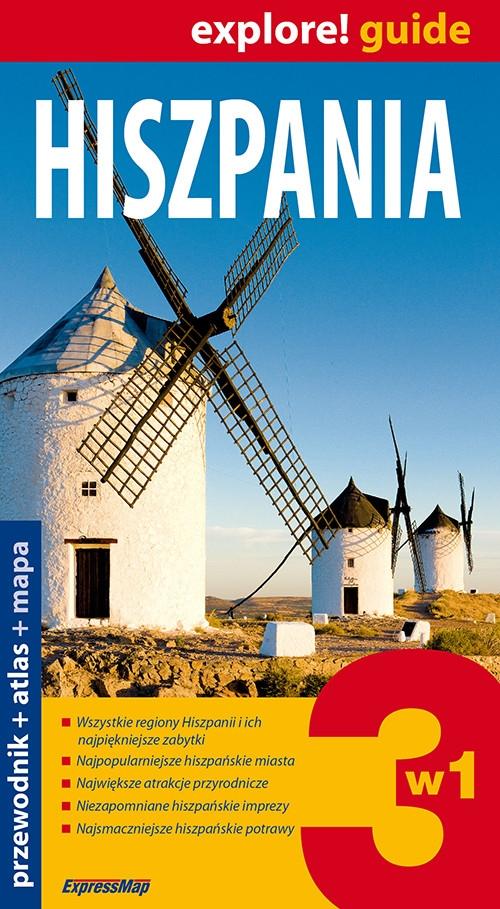 Hiszpania 3w1 Przewodnik + atlas + mapa