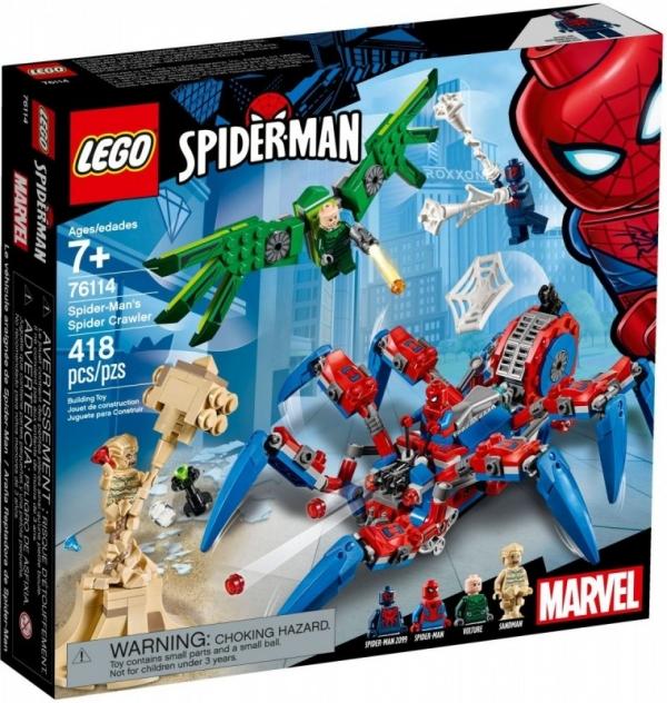 Klocki Super Heroes Mechaniczny pająk Spider-Mana (76114)