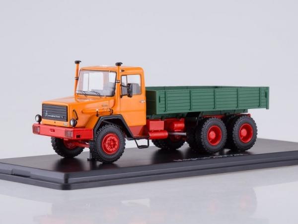 Magirus-Deutz 290D26L Flatbed Truck (orange/green) (SSM1287)