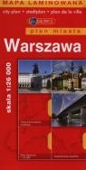 Warszawa Plan miasta 1:26000 laminowany