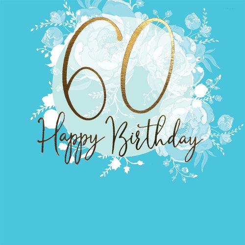 Karnet Swarovski kwadrat Urodziny 60