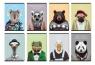 Zeszyt A5 w kratkę 60 kartek Zoo Portraits 5 sztuk mix
