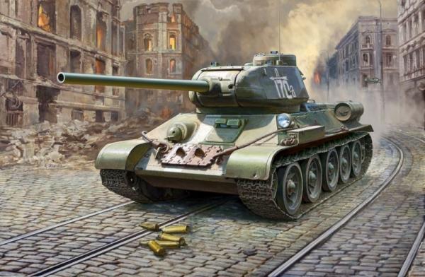 T34/85 Soviet medium tank (3687)
