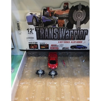Transformer auto sport metalowy ze światłem i dźwiękiem