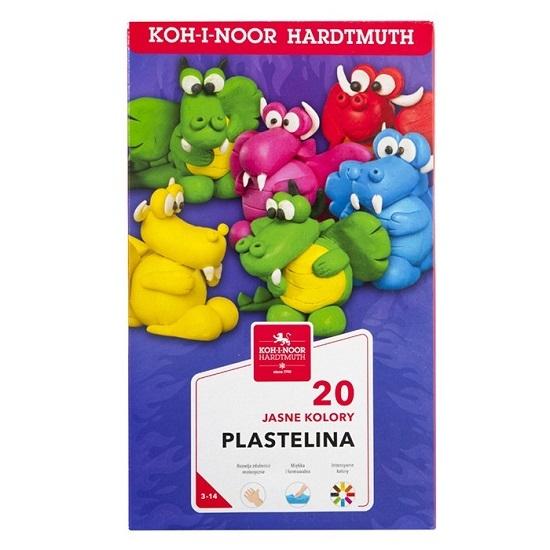 Plastelina Koh-I-Noor, 20 kolorów (1315S2)