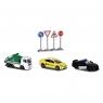 Diorama - Miejskie życie - zestaw w samochodami i znakami drogowymi (2058594)