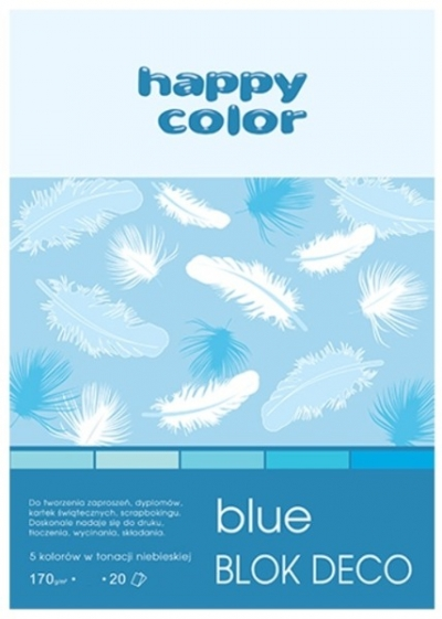 Blok Deco Blue Happy Color A5