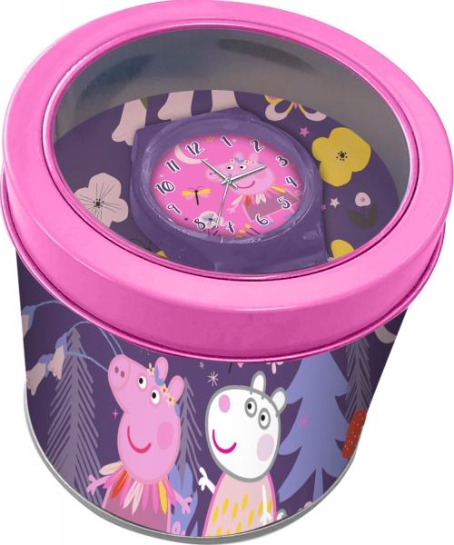Zegarek analogowy  w metalowym opakowaniu - Świnka Peppa (PP17021)