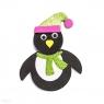 Zestaw kreatywny - pingwin z pianki z brokatem, 6 szt (KSPI-127)