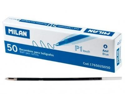 Wkład do długopisu niebieski (50szt) MILAN