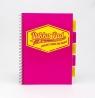 Kołozeszyt A4 Pukka Pad Project Book Neon 200 stron różowy