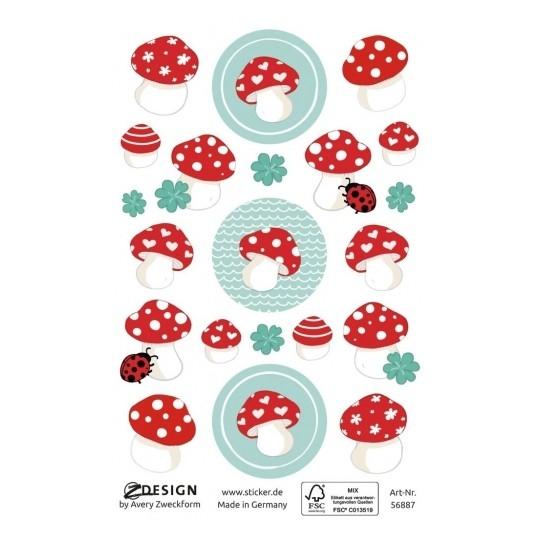Naklejki dla dzieci Z Design - Muchomorki (56887)