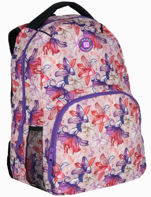 Plecak młodzieżowy kwiaty (16-1838E)