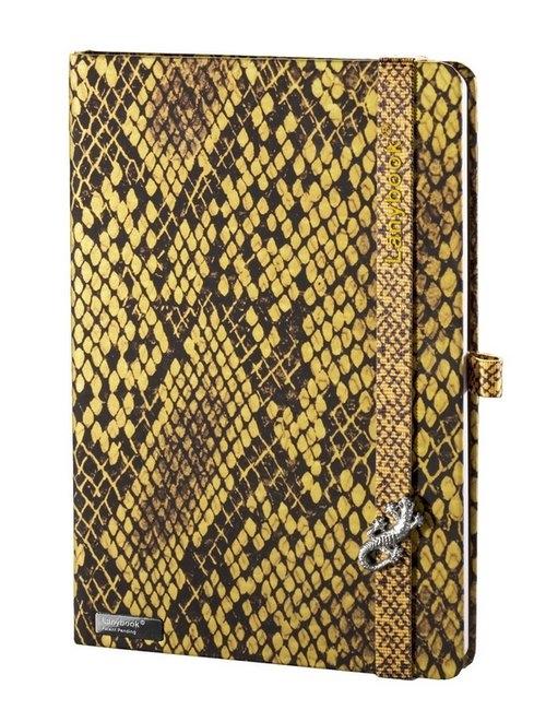 Notes A5 Lanybook Snake Sharmer w kratkę żółty