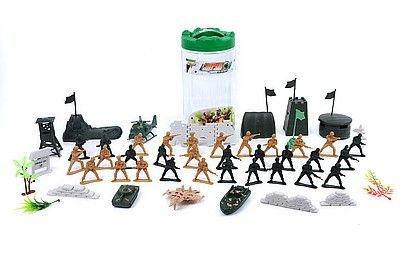Figurka Adar zestaw żołnierzyków z pojazdami, w tubie (501874)