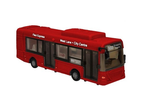 Teama Autobus miejski 1:48 czerwony