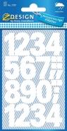Naklejki do domu - białe cyfry (3787)