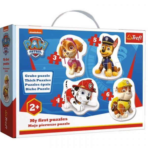 Puzzle Baby Classic 4w1: Skye, Marshall, Chase i Rubble (36087)