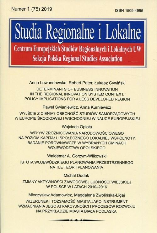 Studia Regionalne i Lokalne Numer 1 (75) 2019