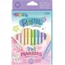 Markery dwustronne Colorino Pastel, 10 kolorów (80875PTR)