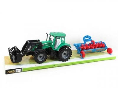 Traktor Bigtoys z maszyną 54 cm (BA1875)