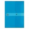 Teczka A5 z gumką Easy Orga - niebieska transparentna