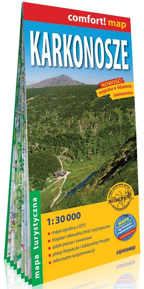 Karkonosze ; laminowana mapa turystyczna 1:30 000