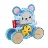 Kolorowe zwierzątka na kółkach: Mysz (GJW12/GLD02) Wiek:9 mies.+