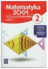 Matematyka 2001 2. Zeszyt ćwiczeń do gimnazjum. Część 1