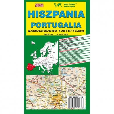 Hiszpania i Portugalia mapa samochodowo-turystyczna Wydawnictwo Piętka