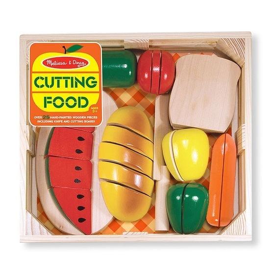 Drewniane jedzenie do zabawy - Cięcie żywności (10487)