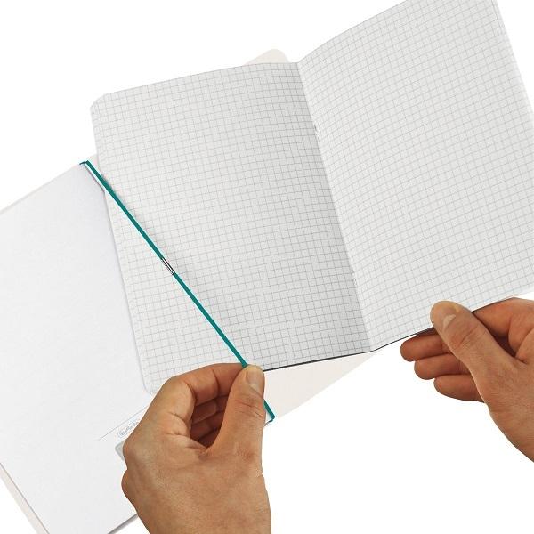 Notatnik flex GREENline A4/2x40 kratka + linia - Ginkgo (50033652)