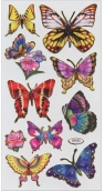 Naklejki A ozdobne holograficzne Motyle