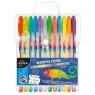 Długopisy żelowe Kidea fluorescencyjne i z brokatem 12 kolorów