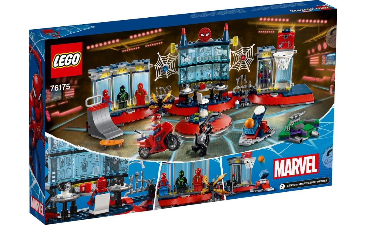 Lego Marvel Spider-Man: Atak na kryjówkę Spider-Mana (76175)