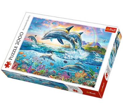 Puzzle Wesołe delfiny 2000 elementów (27087)