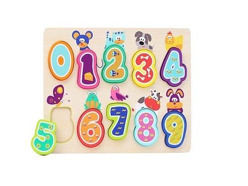 Top Bright Puzzle drewniane Cyferki ze zwierzątkami
