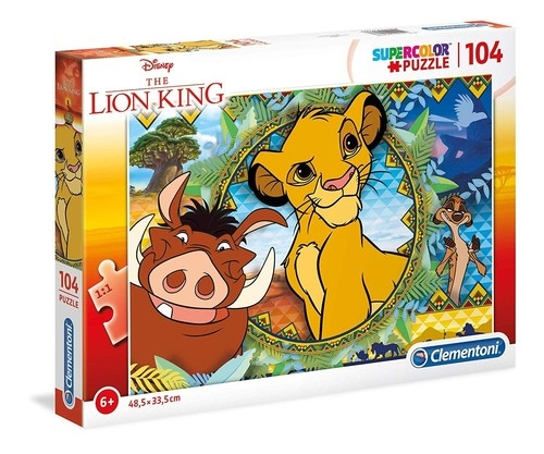 Puzzle 104 Supercolor: Król Lew (27287)